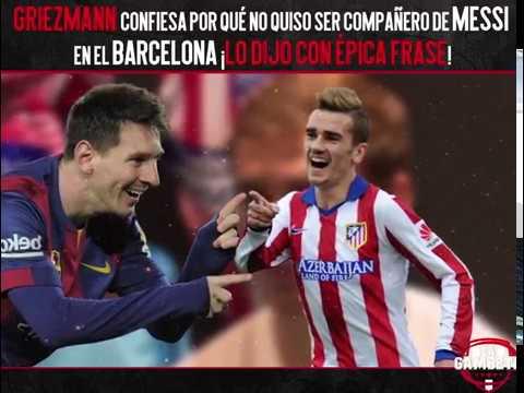 Griezmann confiesa por qué no quiso ser compañero de Messi en el Barcelona