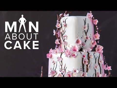 AboutCake: Piped CHERRY BLOSSOM Cake  Man About Cake with Joshua John Russell