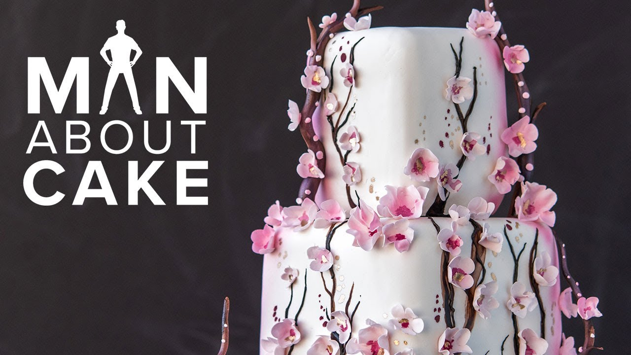 Fanaboutcake Piped Cherry Blossom Cake Man About Cake With Joshua John Russell