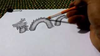 how to draw a dragon in 3d