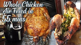 Whole Chicken Air Fried in 55 mins  Air Fryer Easy Recipe  No Mess Recipe  Panlasang Pinoy