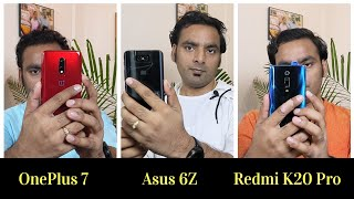 Redmi K20 Pro Vs Oneplus 7 Vs Asus Zenfone 6z - Comparison  Best Smartphone Under 35000  Hindi