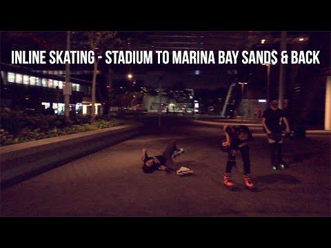 Singapore Inline Skating - Singapore Sport Hub to Marina Bay Sands & Back