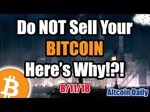 URGENT: Do NOT Sell Your Bitcoin - Here's Why!?! [Cryptocurrency, Altcoin, Crypto News]