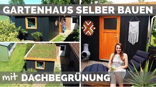 Gartenhaus selber bauen - DIY Anleitung - Dachbegrünung - Werkstatt einrichten - Holzhaus Holzhütte