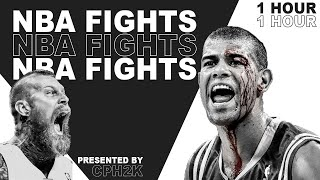 NBA Fights Compilation For 60 Minutes