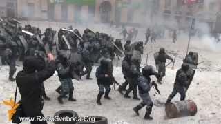 Скачать Украина Киев Майдан Грушевского Революция 2014 Беркут против митингующих 22 01 2014Ukraine Kiev Mai