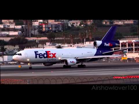 FedEx Boeing MD-10-10 (DC-10-10) Sunset Takeoff San Diego