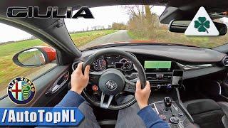 Alfa Romeo Giulia Quadrifoglio 510hp 2.9 V6 BiTurbo POV Test Drive by AutoTopNL
