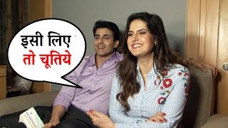 zareen khan ने दी gautam rode को सबके सामने गाली aksar 2 interview