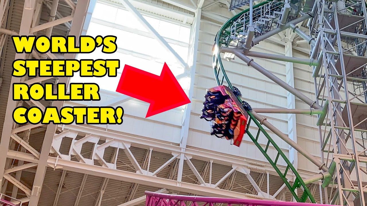 World's STEEPEST Roller Coaster! TMNT Shellraiser at Nickelodeon Universe American Dream New Jersey
