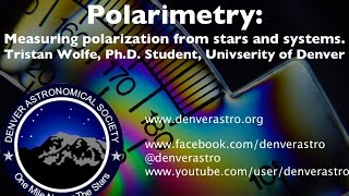 Polarimetry: Measuring the polarization of light from stars and systems.