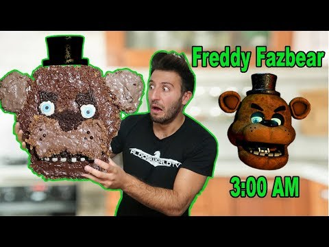 (HE CAME TO MY HOUSE?!) 3 AM GIANT FREDDY FAZBEAR CHOCOLATE DIY | FREDDY FAZBEAR HATES CHOCOLATE?