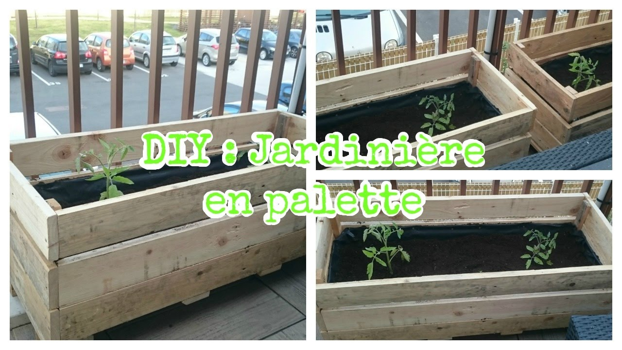Diy jardini re en palette youtube - Jardiniere en palette ...