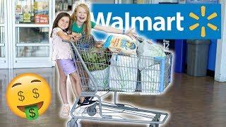 Kids Walmart Grocery Shopping Challenge!🍔🍭🍪