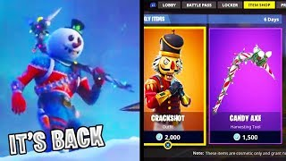 "CANDY AXE RETURNING A FORTNITE! ¡LAS PIELES DE CHRISTMAS ""OG"" SE DEVUELVEN A FORTNITE!"