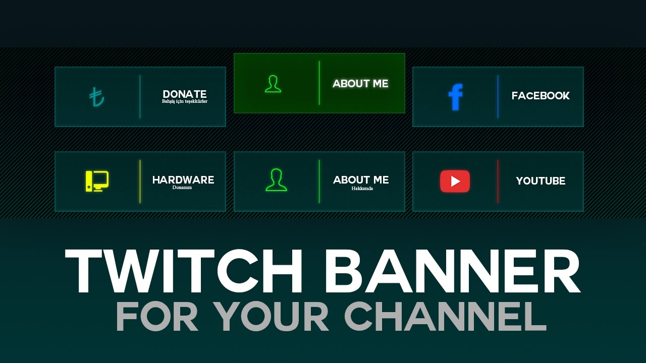 Qx Tuts 1 How To Make A Twitch Banner In Adobe Photoshop Cc Youtube