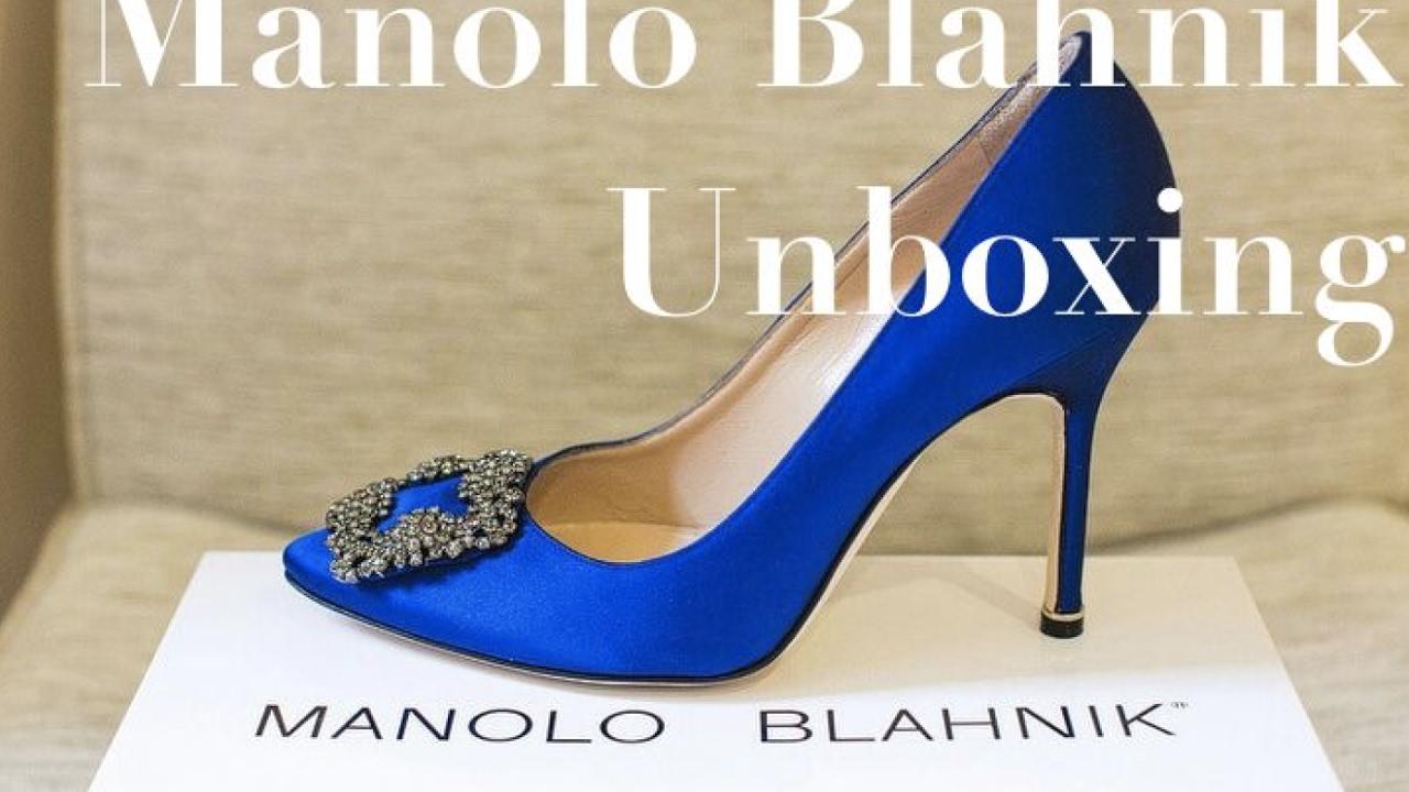 Manolo blahnik unboxing luxury designer shoes youtube for Shoe designer manolo blahnik