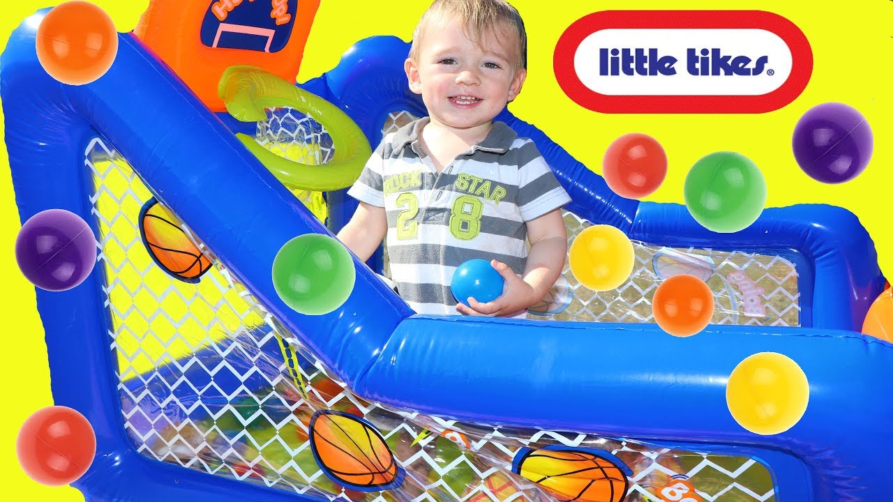 Toy Review Little Tikes Hoop It Up Play Center Ball Pit  sc 1 st  YouTube & Toy Review Little Tikes Hoop It Up Play Center Ball Pit - YouTube