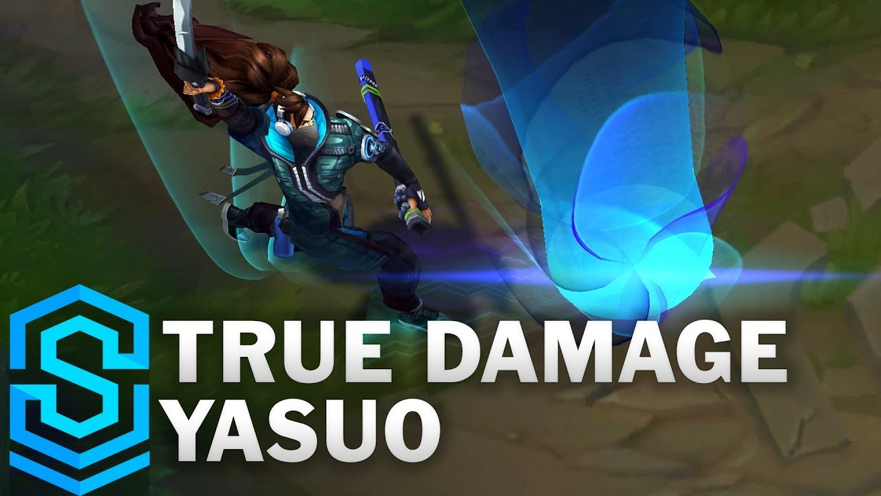 True Damage Yasuo Skin Spotlight Pre Release League Of Legends