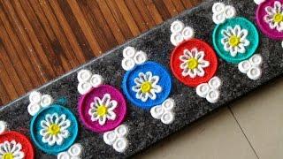 Beautiful multicolored border rangoli | Creative rangoli designs by Poonam Borkar