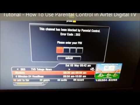 Parental  Control in Airtel Digital TV to Block Channels