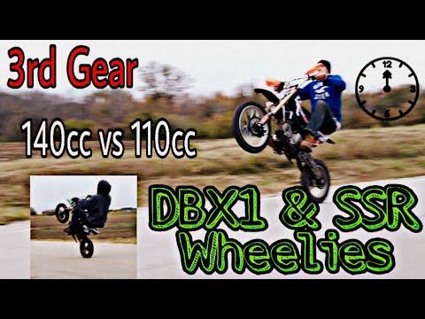 This is How You WHEELIE the TaoTao 140cc DBX1 Pit Bike - 3rd Gear Wheelies With SSR 110cc