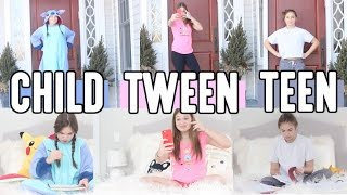 Child vs Tween vs Teen