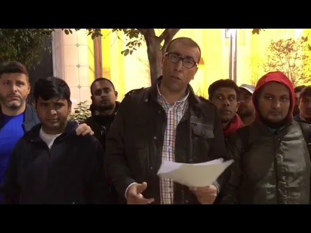 Caballas se solidariza con las reivindicaciones de los migrantes asiáticos