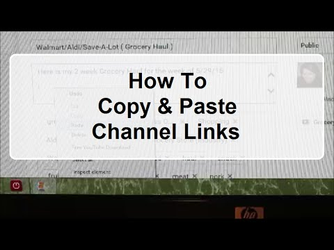 How To Copy & Paste Channel Links