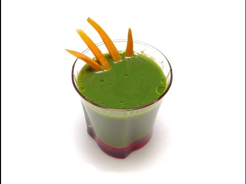 How To Make A Carrot Spinach Juice / Healthy Recipe, Vegetables, Cooking Tips