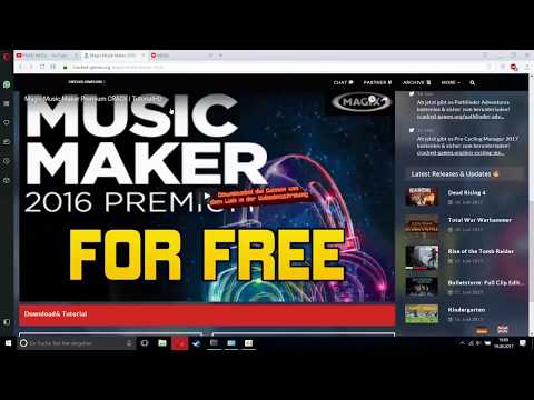 Magix Music Maker Premium 2016 Crack  Free Download+Tutorial [Eng]
