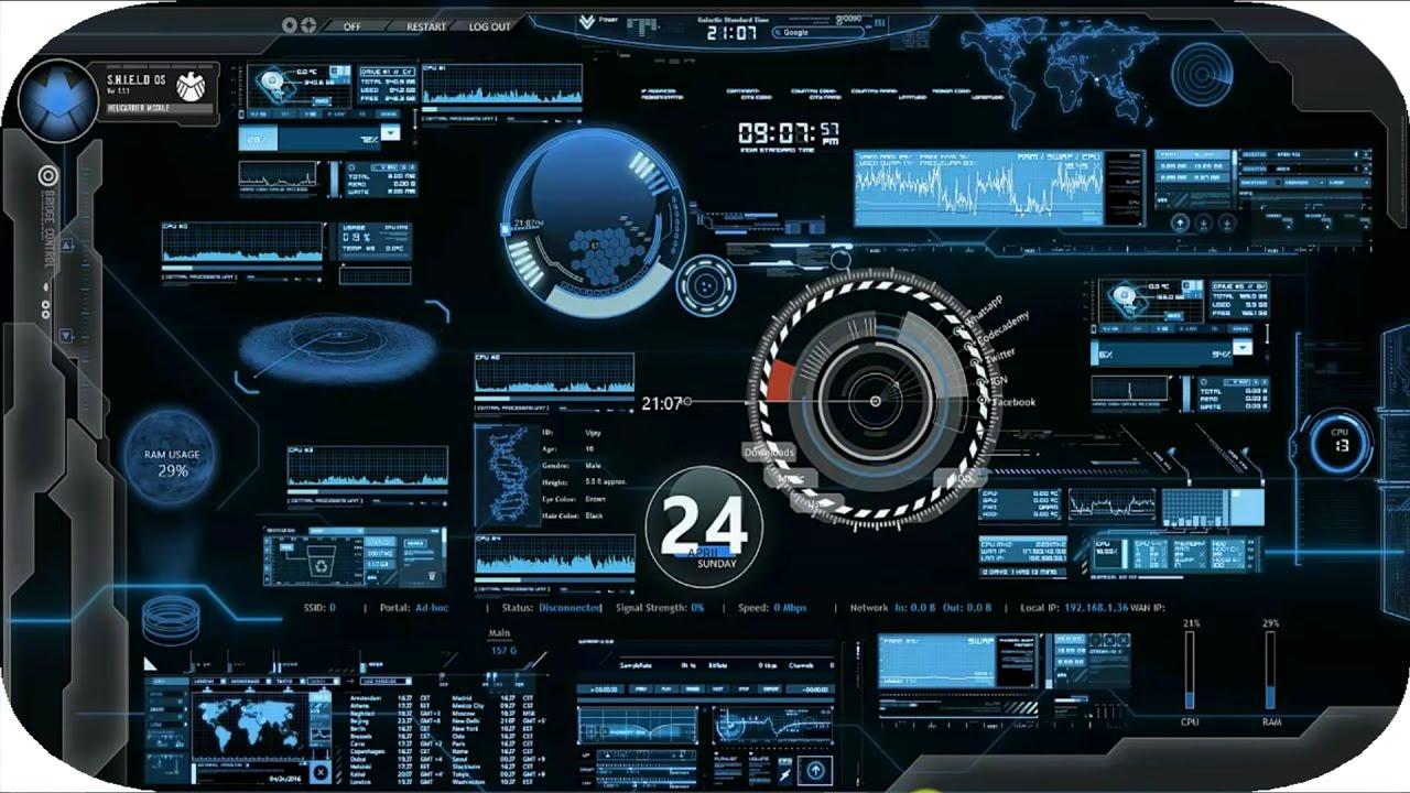 3d Live Wallpaper Free Download For Desktop Jarvis For Windows 7 8 8 1 10 Youtube