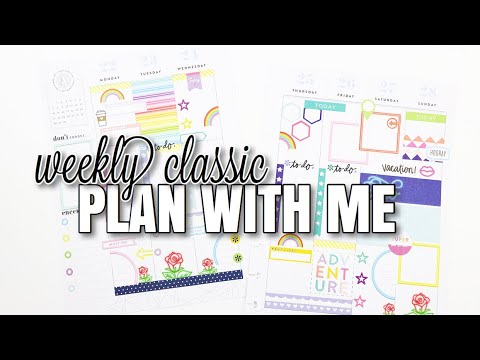 Weekly Plan With Me | Classic Happy planner | At Home With Quita
