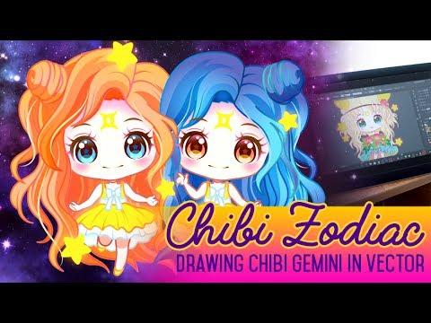 Zodiac Chibis - Gemini [ Vector Art ]
