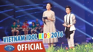 vietnam idol kids - than tuong am nhac nhi 2016 - ban ket 1 - con se song vi me - thao vy