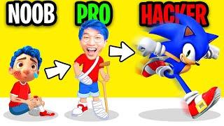 NOOB vs PRO vs HACKER In GET WELL RUN!? (ALL LEVELS!)