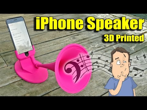 3D printed iPhone amplifier that works!