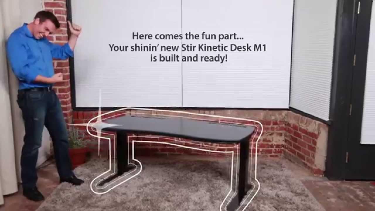 Stir Kinetic Desk M1   Easy Assembly   YouTube