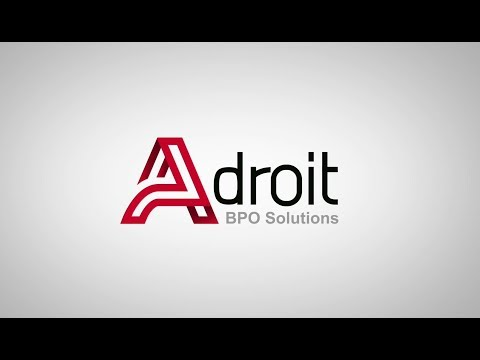 Adroit BPO HR Services | Info graphics | Text Animation