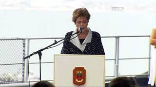 dilma participa de cerimnia de novo navio da marinha na bahia