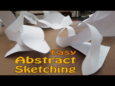Simple quick Abstract 3D paper folding sketching idea generating