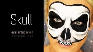 SKULL Face Painting Tutorial - Face Painting for Fun - Ep 1