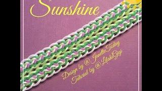 NEW Rainbow Loom Band Sunshine Bracelet (Hook Only)