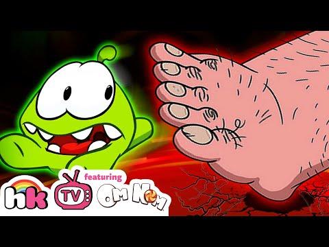 Om Nom Stories: OM NOM VS GIANT FOOT | Cut the Rope | Funny Cartoons for Children | HooplaKidzTV