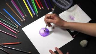 COLORED PENCIL: How to Use Water Soluble Colored Pencils (Watercolor Pencils)