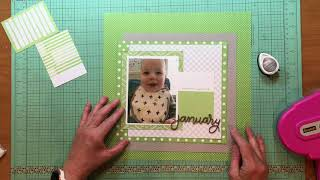 Scrapbook Process #379 Yes, Peas!
