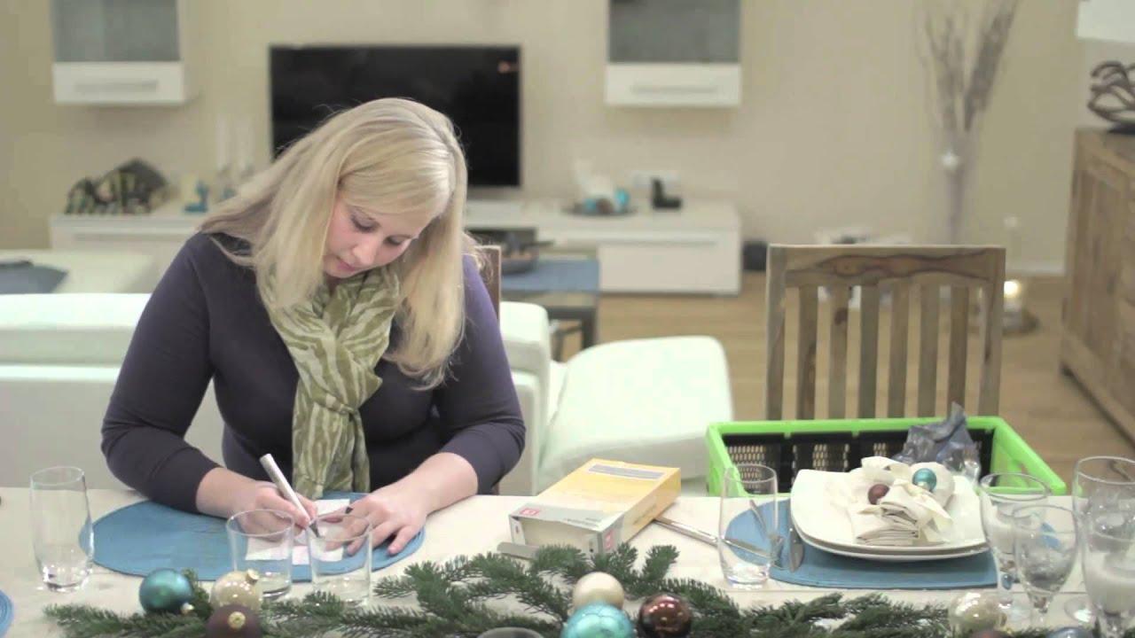 Weihnachtliche Tischdekoration dekolina weihnachtliche tischdekoration