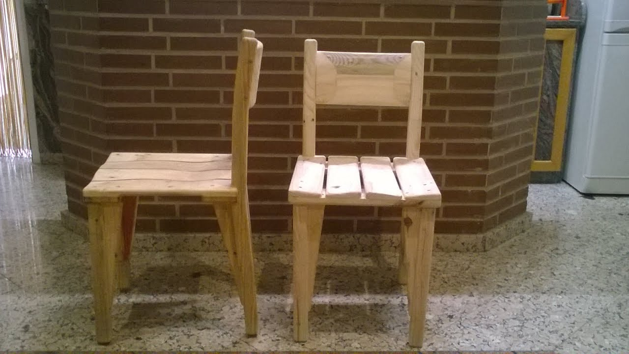 Silla para bar hecha con madera de palet youtube for Modelos de sillas para barra en madera