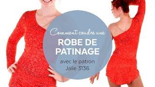 """Jeanne Binet confectionne une robe de patinage (patron Jalie #3136 - Modèle A). Elle utilise du tissu """"nu"""" sur l'une des moitiés du corsage pour donner un effet ..."""